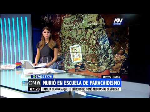 Surco: Joven soldado murió en escuela de paracaidismo