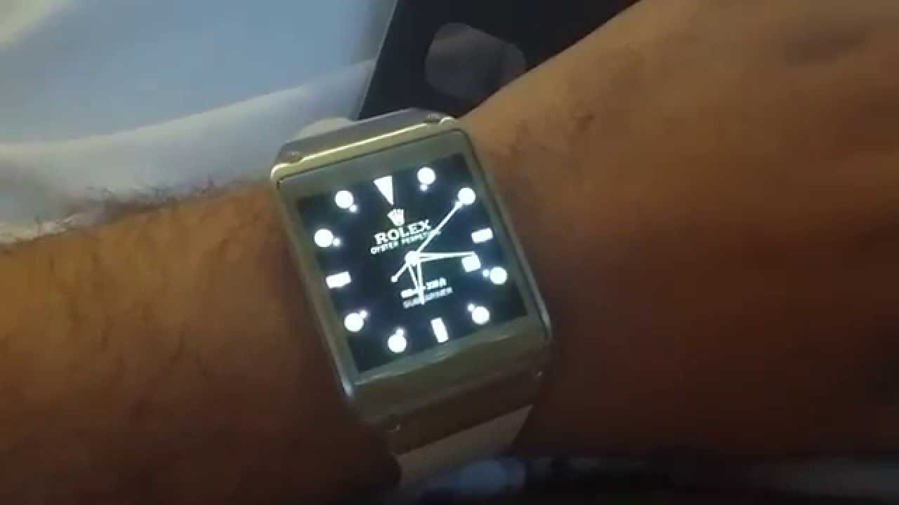 Samsung Galaxy Gear Brasil - Rolex Submariner Watch Face. - YouTube