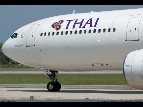 #2 FLIGHT REPORT | Thai Airways 777-300ER Shanghai to Bangkok | Hard landing extreme + Turbulance