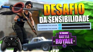 DESAFIO DA SENSIBILIDADE MÍNIMA NO CONSOLE (X e Y) - Fortnite Battle Royale Gameplay - XBOX ONE