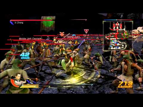 Dynasty Warriors 8 (US) - Zhuge Dan Gameplay (Chaos Difficulty)