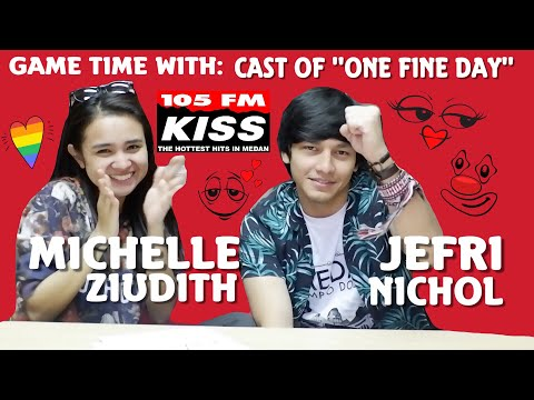 GAME TIME with Michelle Ziudith & Jefri Nichol (cast of ONE FINE DAY)