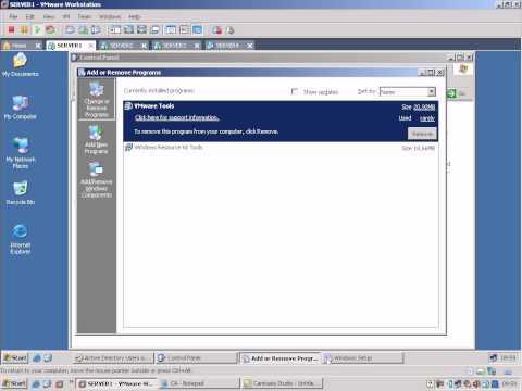 Microsoft 2003 certificate (CA) server installing