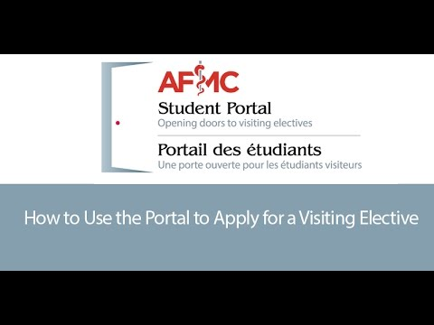 How to Use the Portal to Apply for a Visiting Elective
