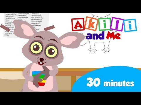 Learn with Bush Baby! | 30 minutes of African Educational Cartoons from Akili and Me