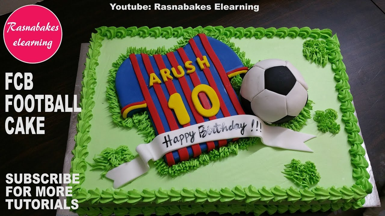 F C Barcelona Football Kids Birthday Cake Video