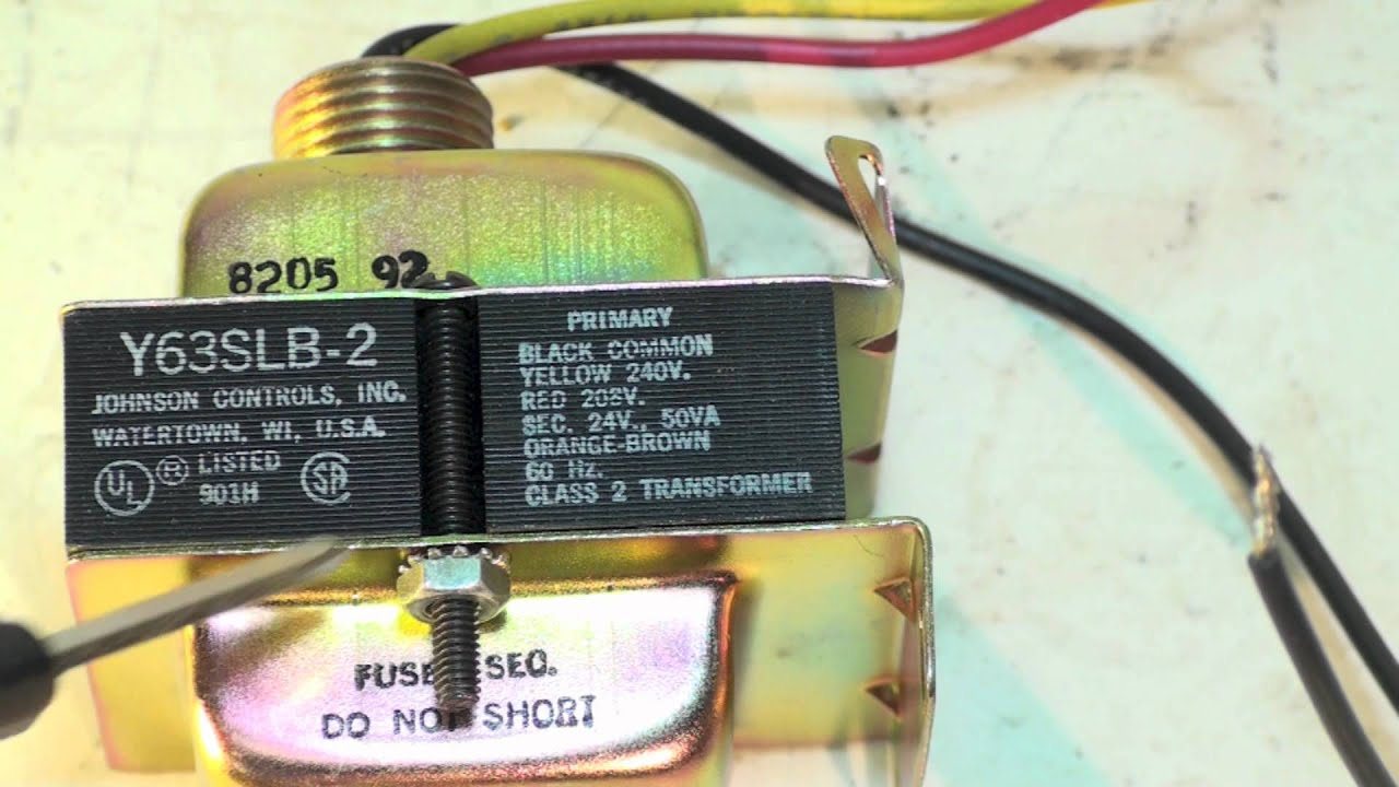 240 Volt Transformer Wiring Diagram The Hvac Youtube