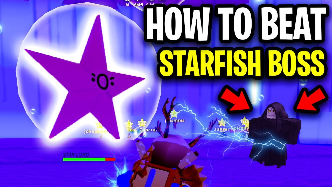 How To Beat The Starfish Boss Easy Star Lord Boss Cyber