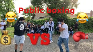 PUT ON THE GLOVES  *PUBLIC BOXING* 2 KO's 🔥