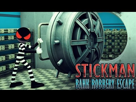 Stickman Bank Robbery Escape - Android Gameplay HD