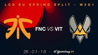 Video Fnatic vs Vitality - LCS EU Spring Split 2018 - Week 2 Day 1 - League of Legends download MP3, 3GP, MP4, WEBM, AVI, FLV September 2018