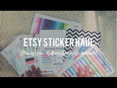 Huge Etsy Sticker Haul