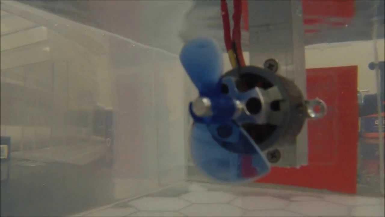 Brushless Rov Thruster Test 1 Youtube