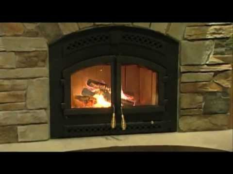 Quadra-Fire® 7100 Wood Fireplace Video - YouTube