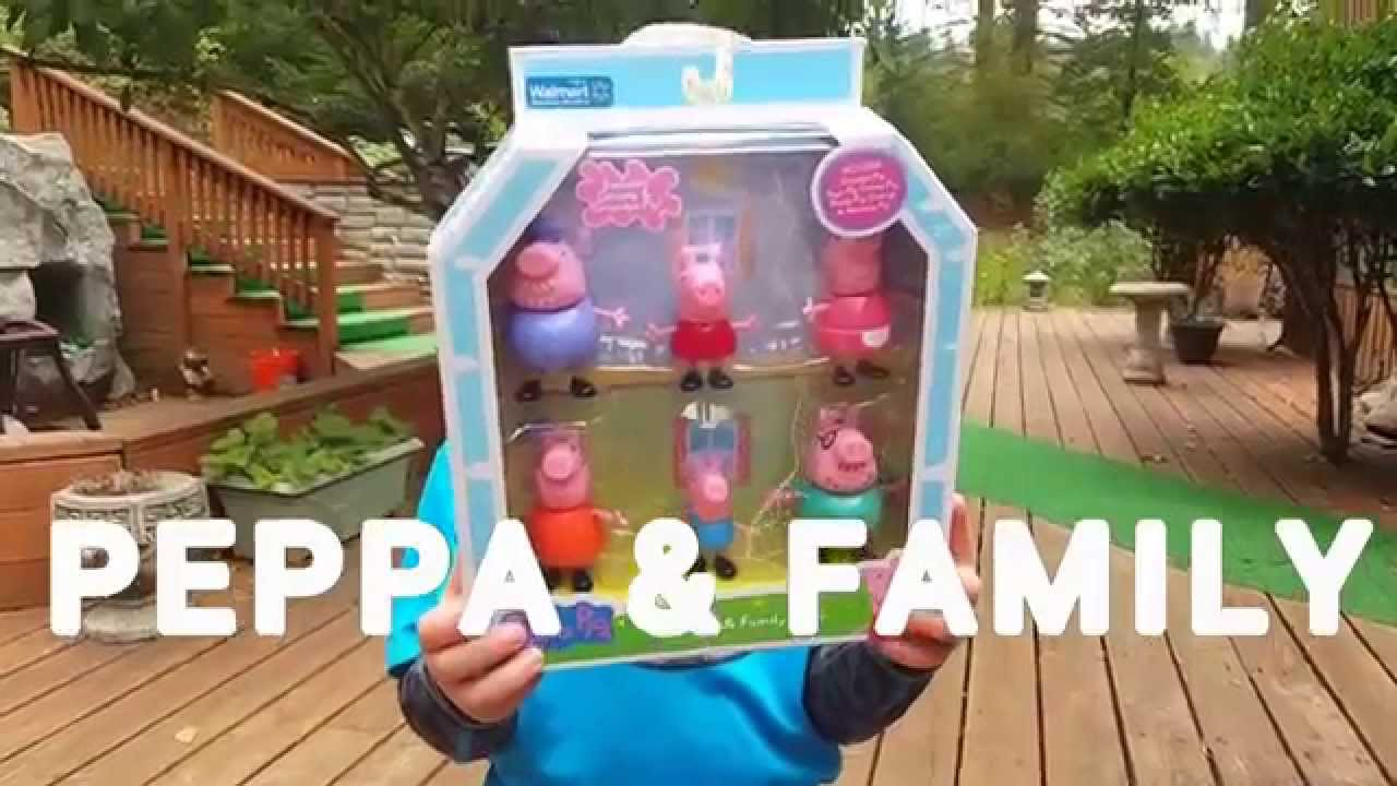Peppa Pig Family Unboxing Playing From Walmart