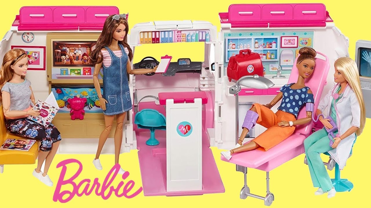 Barbie Care Clinic Ambulance Hospital Unboxing Set Up Play Boneka Hello Kitty Wedding14ampquotn A Doctor Careers Role Model
