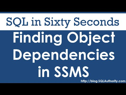 SQL SERVER - Finding Object Dependencies in SSMS - SQL in Sixty Seconds #071 hqdefault