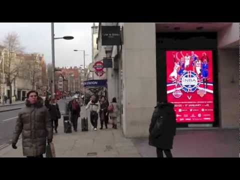 DayLite LED Digital P6 advertising screen at Kensington High Street