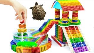 DIY - Build Amazing Aquarium Turtle House Fountain With Magnetic Balls (Satisfying) - Magnet Balls