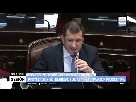 Kueider le recordó a De Angeli que defendió las retenciones de Macri