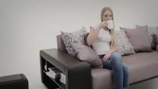 видео АМСТЕРДАМ диван по фото в бежевой рогожке купить по акции с фабрики