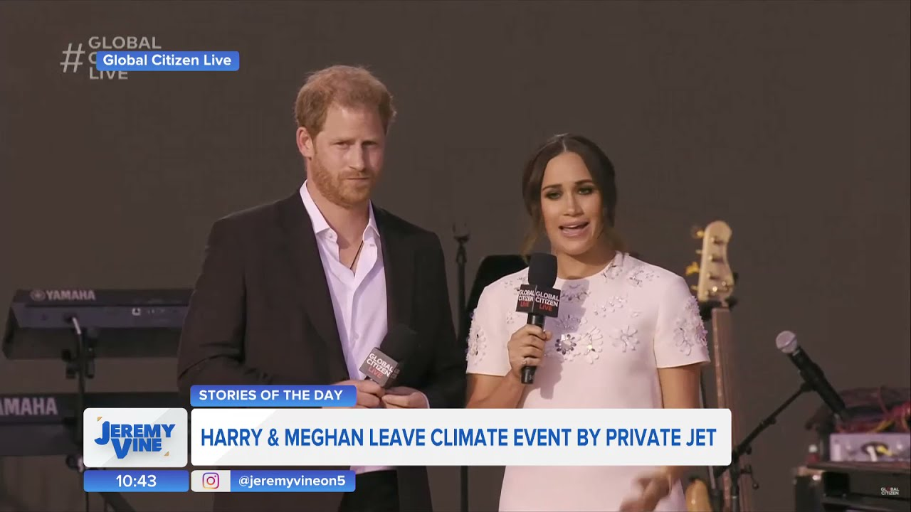 Download Prince Harry and Meghan criticised over private jet travel to Global Citizen Live | Jeremy Vine On 5