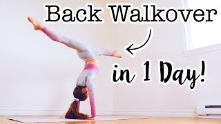 How to do a Bąck Walkover in One Day!