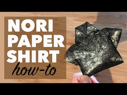 How to Make a Paper T-Shirt out of Nori Seaweed   Edible Origami
