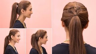 4 Easy Ponytail Hairstyles - Quick & Easy Girls Hairstyles - Glamrs