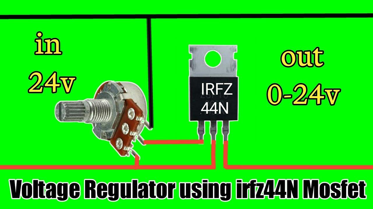 IRFZ44N Mosfet Voltage Regulater   DC voltage regulator circuit