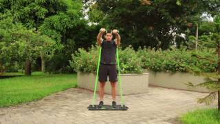 Resistance Band Shoulder Workout - Front Raises - BodyBoss