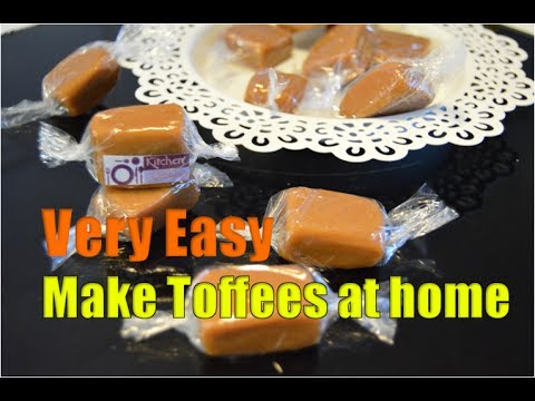 Homemade Caramel Candy without corn syrup | Toffee | Very Easy Recipe