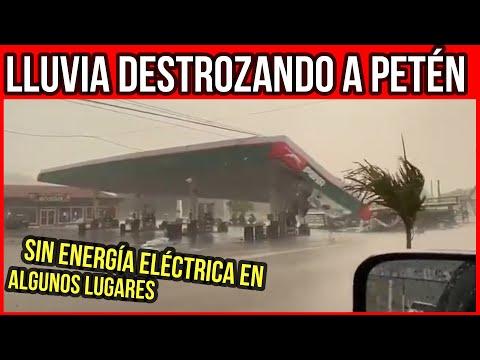 Alerta Guatemala: Fuerte tormenta acompañado de vientos huracanados y lluvia granizo azotan a Petén.