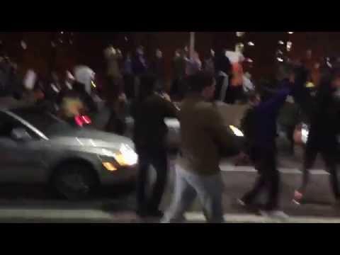 Thousand shutdown FDR drive in New York City for Ferguson