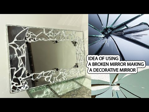 how-to-make-glamour-cracked-mirror-using-waste-material-|-diy-crafts-#-5