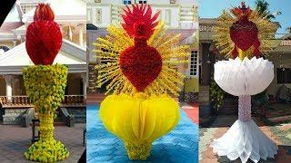 Pindi Decoration | Flower Making With Paper | Flower Craft | Pindi Decoration Ideas