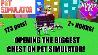 Roblox | OPENED THE BIGGEST CHEST IN PET SIMULATOR *8.5MILL*