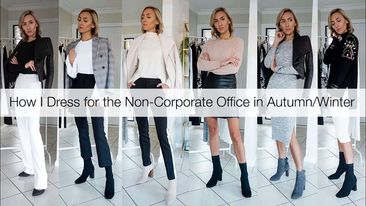 ae811fefdc2 How I Dress for the Non-Corporate Office in Autumn and Winter - YouTube