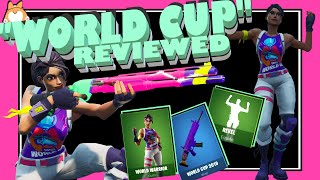 "Complete Honest Review: Fortnite ""WORLD WARRIOR"" Skin + ""WORLD CUP 2019"" Wrap + COMBOS + LULZ /NEW"
