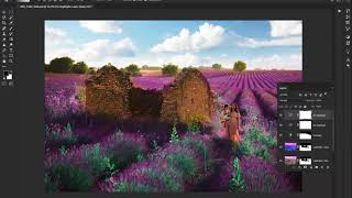 Lavender Photoshop Action Tutorial 2