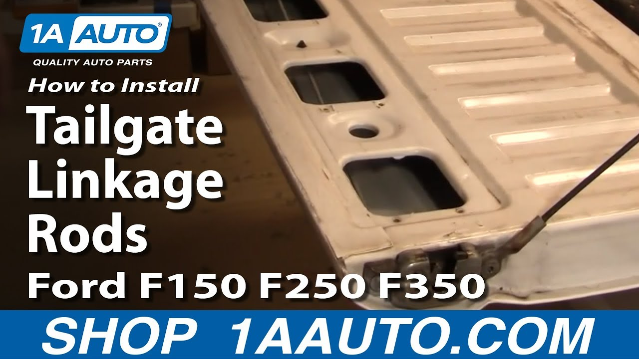 hight resolution of how to install replace tailgate linkage rods ford f150 f250 f350 92 96 1aauto com youtube