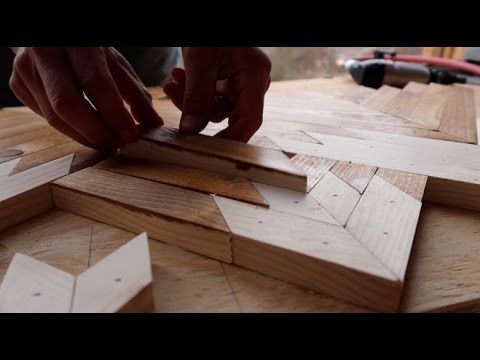 How To Make Geometric Wood Wall Art Youtube