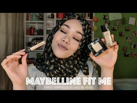 New Maybelline Fit Me Foundation, Concealer, and Powder | First Impression & Review | MakeupbyFatya