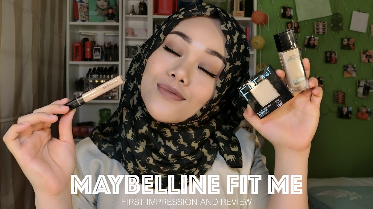 New Maybelline Fit Me Foundation Concealer And Powder First Airyrooms Matte Poreless 30ml Impression Review Makeupbyfatya Youtube