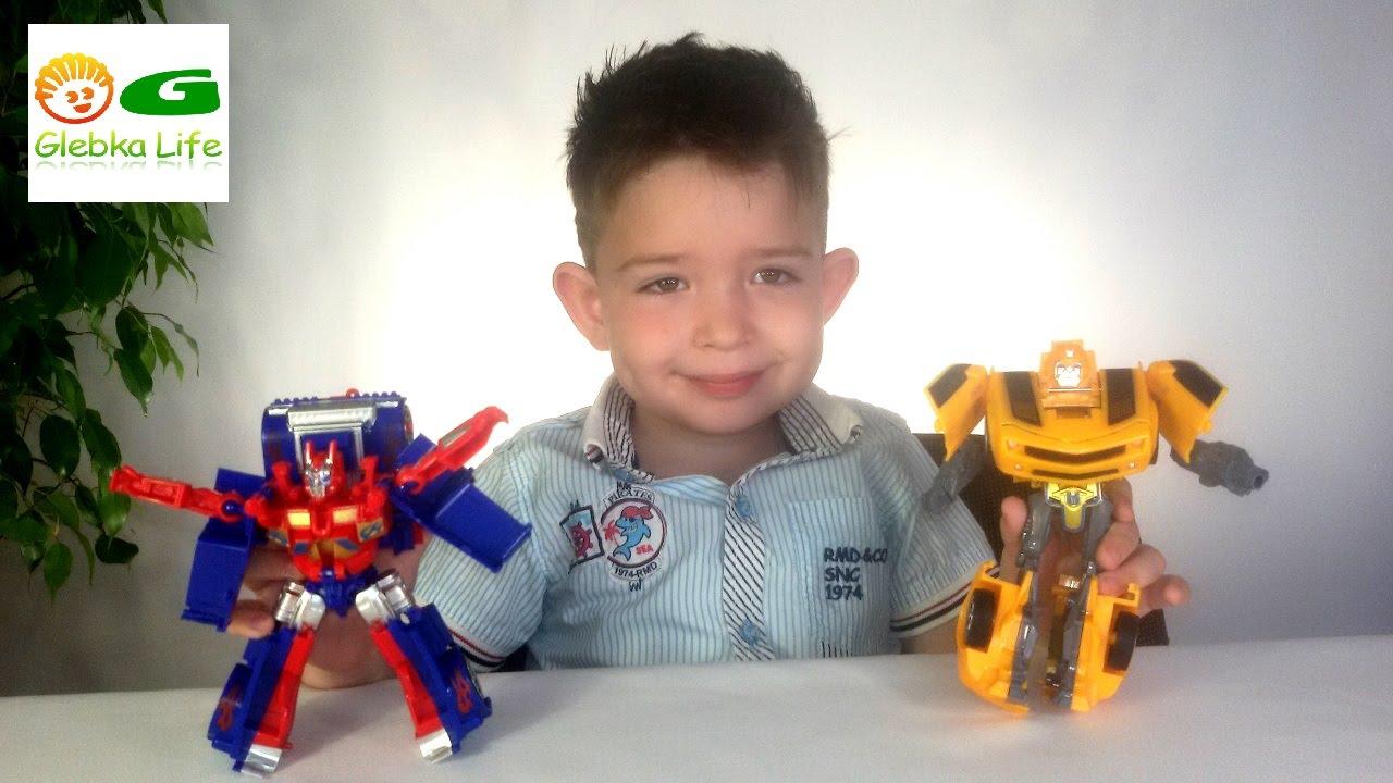Роботы ТРАНСФОРМЕРЫ Оптимус Прайм и Бамблби.Transformers Optimus Prime, Bumblebee.