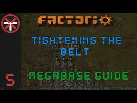 Factorio: Tightening The Belt: Megabase Guide EP5 - RAILS & TRAINS | Tutorial Gameplay Series