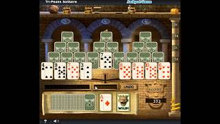 Tri-Peaks Solitaire | Pogo.com | Retired Games | Gameplay