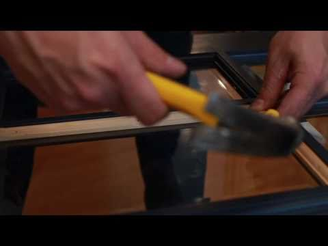 Replacing Glass on a Door with Wood Mouldings