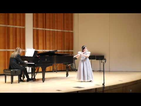 Poulenc Sonata for flute and piano 1st & 3rd mvt., at Merkin concert hall