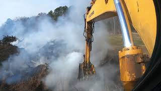 Helping Put Out A Landfill Fire